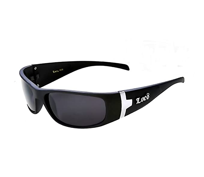 6c7c8234a51ab Amazon.com  Locs Sunglasses Hardcore Black Wraparound OG Shades ...