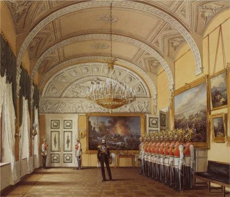 The High Quality Polyster Canvas Of Oil Painting 'Hau Edward Petrovich,Interiors Of The Winter Palace,The Guardroom,1807-1887' ,size: 8x9 Inch / 20x24 Cm ,this Vivid Art Decorative Canvas Prints Is Fit For Gift For Girl Friend And Boy Friend And Home Decoration And Gifts