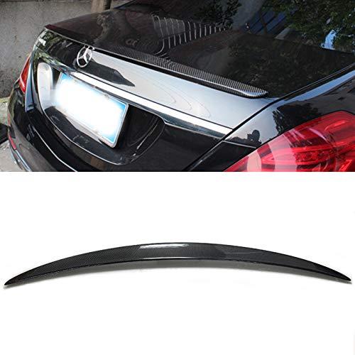 Carbon Fiber Rear Trunk Spoiler Wing Lip Fit for 2014-2018 Mercedes W222 S-Class S400 S500 S550 S63 S65 AMG Sedan 4DR 4dr Carbon Fiber Trunk