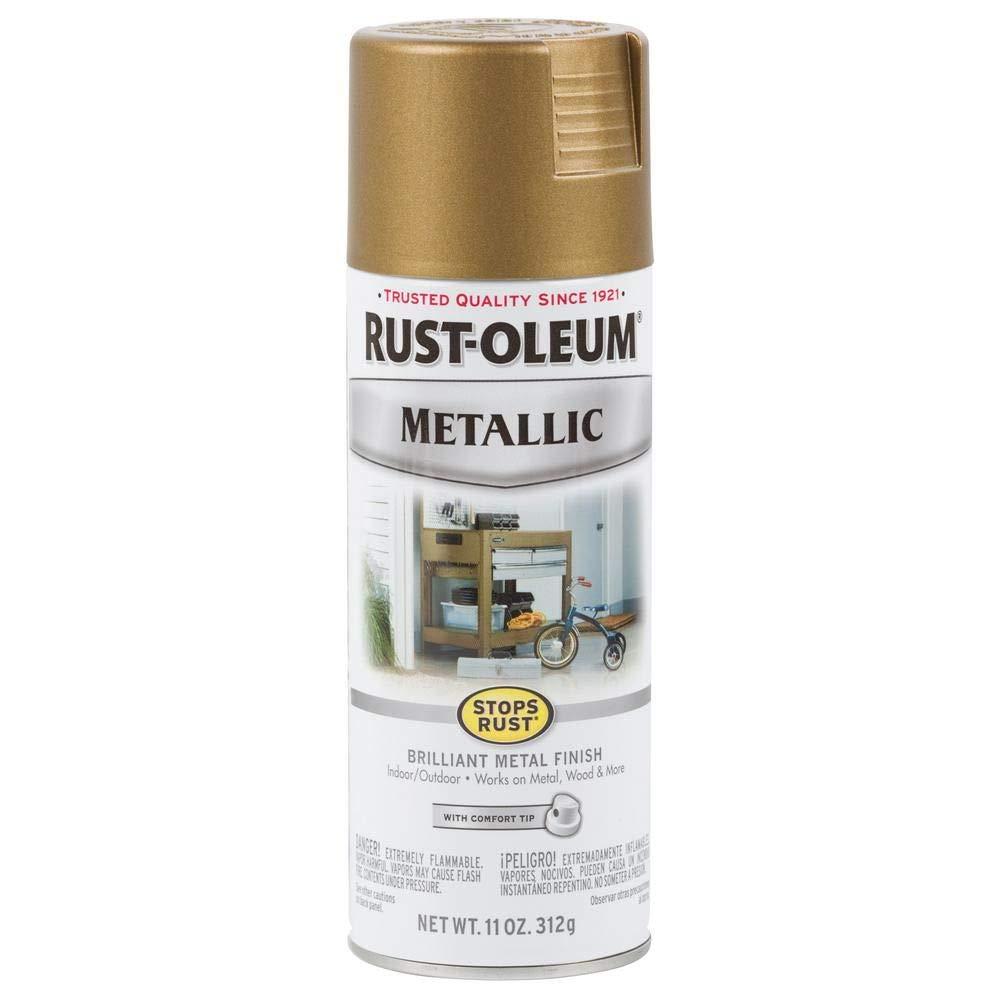 Rust-Oleum 313142 Rust Preventative Spray Paint SR 11OZ BRZ Met