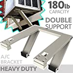 ALPINE HARDWARE Universal Window Air Conditioner Bracket - 2pc Heavy-Duty Window AC Support - Support Air Conditioner Up to 180 lbs. - for 12000 BTU AC to 24000 BTU AC Units (HD 2PC ACB)