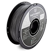 HATCHBOX PLA 3D Printer Filament, Dimensional Accuracy +/- 0.03 mm, 1 kg Spool, 1.75 mm, Silver by HATCHBOX