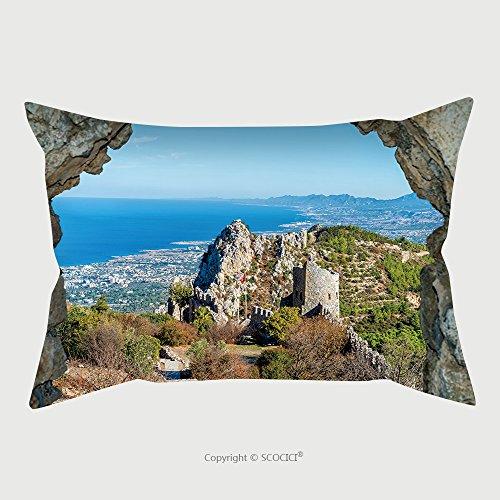 Custom Microfiber Pillowcase Protector Castle Ruins Saint Hilarion Castle Cyprus 370114163 Pillow Case Covers Decorative (Cyprus Futon)