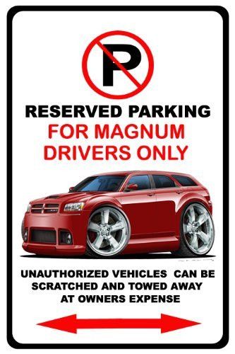 dodge-magnum-muscle-car-toon-no-parking-sign