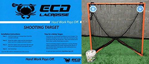 ECD Lacrosse Shooting Target 2-Pack East Coast Dyes Corner Pocket Target 2 Blue Bundle with 1 Performall Sports Bag by ECD Lacrosse (Image #3)