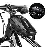 LIDIWEE Bike Frame Bag Waterproof Bicycle Top Tube Bag EVA Shell Shockproof Front