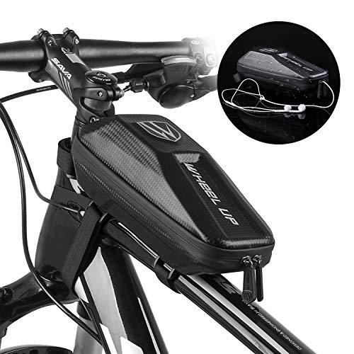 LETOUCH Bike Frame Bag, Bicycle Front Frame Phone Bag Hard Shell EVA Cycling Tools Bag Bike Top Tube Bag Waterproof MTB Road Storage Bag Cycling Accessories Pouch from LETOUCH