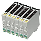 Ink & Toner Geek ® - 6 Pack Remanufactured Replacement Inkjet Cartridges for Epson T060 60 #60 (T060120) For Use With Epson Stylus C68 Stylus C88 Stylus C88Plus Stylus CX3800 Stylus CX3810 Stylus CX4200 Stylus CX4800 Stylus CX5800F Stylus CX7800 (6 Black)