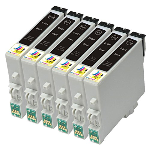 Ink & Toner Geek ® - 6 Pack Remanufactured Replacement Inkjet Cartridges for Epson T060 60 #60 (T060120) For Use With Epson Stylus C68 Stylus C88 Stylus C88Plus Stylus CX3800 Stylus CX3810 Stylus CX4200 Stylus CX4800 Stylus CX5800F Stylus CX7800 (6 Black