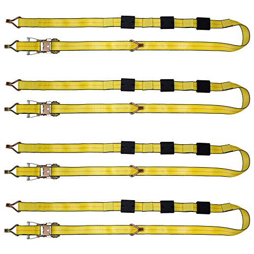 B/a Hook Products - B/A Products 4-Pack Ratchet Tie-Down Assembly with Double Finger Hooks 2
