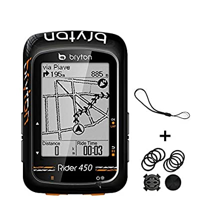 Gps Bike Computer >> Amazon Com Bryton Rider 450 Gps Bike Computer 2 3 Display