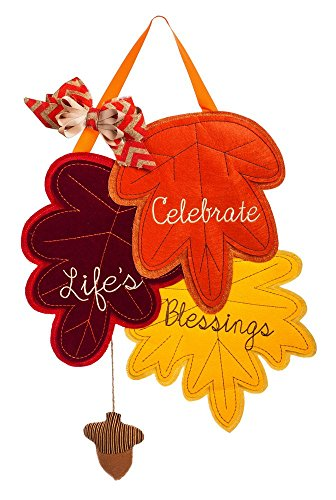 Evergreen Flag Count Your Blessings Outdoor Safe Felt Door Decor