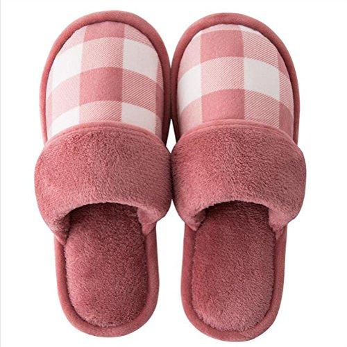 Femmes Fond Au Zhang2 Hiver Pantoufles Famille Doux Chaud Et 39 Hommes Sweat eu40 Eu Garder Glisser 010 Coton Belle wgS6XxqS0