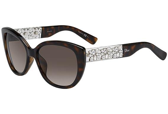 bb67ba27dc01 Dior Women s Dior Mystere   Exclusive Tortoise   Crystal Frame Brown  Gradient Lens Plastic Sunglasses