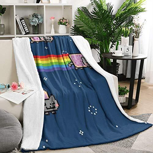 UYIQWCDFPK Nyan Cat-01 Flannel Fleece Blanket Ultra
