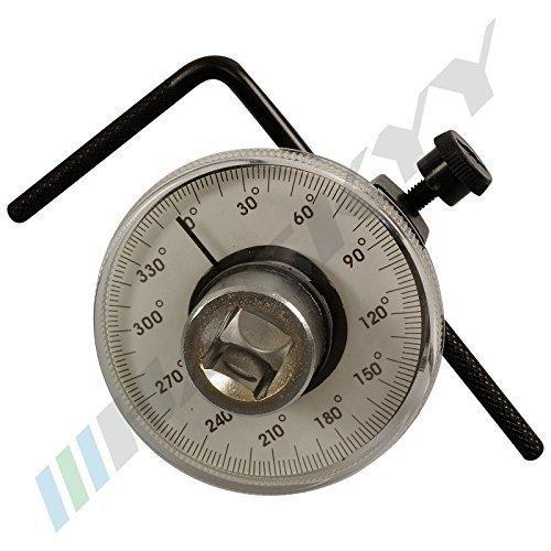 Instrumento de medición de ángulo de rotación Transportador De Calibre Lámina del ángulo redondo 0-360 ° CDWMG-15 HASKYY