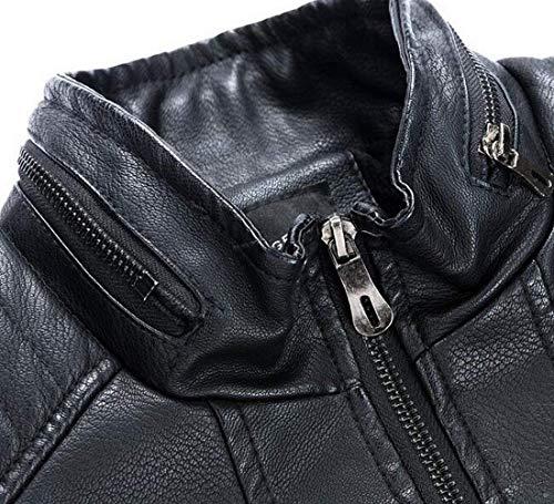 Abbigliamento Moto Pelle Giacca Sintetica Da Black Kangqi Uomo In rBtsdCxhQ