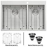 kitchen faucet ruvati - Ruvati RVH8050 Drop-In Overmount 16 Gauge 33