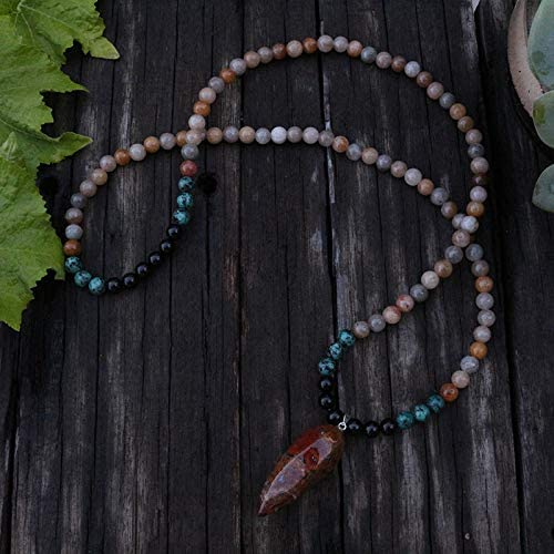 108 Mala Beads Color: Light Yellow Gold//Length: 86cm Sunstone Japamala Prayer Meditation Spiritual Jewelry Fricgore Beads Green Yoga Gift - Black Onyx 8mm Mala Beads Stone Necklace