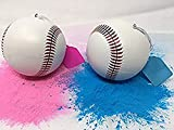 Gender Reveal Baseballs 2 Pack, Pink and Blue, Sex Reveal Party! (1 Pink & 1 Blue Ball)