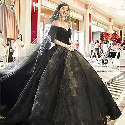 Luxury Women S Lace Wedding Dress Black Lace Sweetheart Bridal