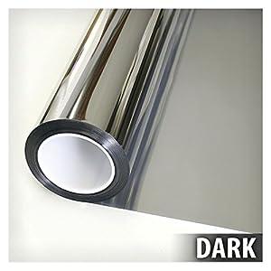BDF S15 Window Film One Way Mirror Silver 15 (Dark) - 36in X 12ft