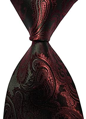 New Pulm Paisley Jacquard Woven Men's Tie Necktie