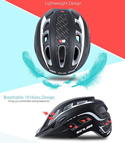 outlife Ultraleggero Unisex 55-61cm Casco Bicicletta Adulto 19 Fori con Visiera (Rosso) 3 spesavip