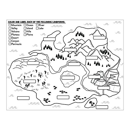 Fun Express - Cyo Label and Color Landforms Poster - Craft Kits - CYO - Paper - Stationery - 30 Pieces]()