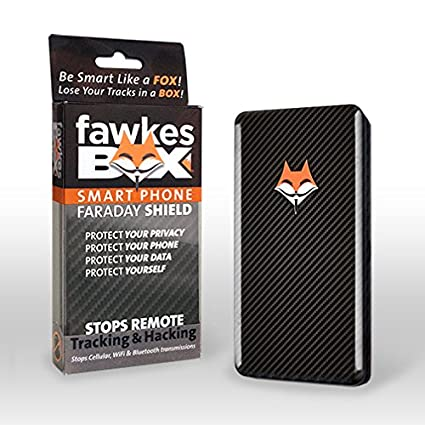 FawkesBOX Smartphone Faraday Cage Shield - Cell, Bluetooth & Wifi Signal  Blocker for iPhone X and phones 3