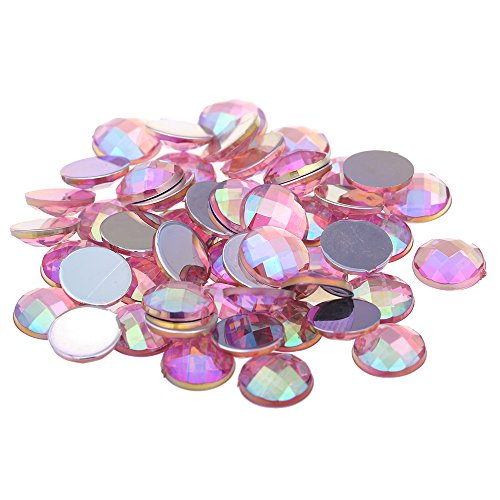 Nizi 6mm 1000pcs Light Pink AB Round Acrylic Rhinestones Flatback Earth Faceted Strass Gems 3D Nail Art Decorations