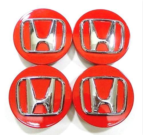 Ridgeline Rims Honda (Gosweet H069R Set of 4 Red Replacement Wheel Center Rim Hub Caps 69mm Fit For Honda Accord, Odyssey, Pilot, CR-V, Ridgeline, Element, Crosstour, CR-Z,Wheel Hub Caps)