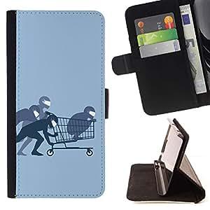 Momo Phone Case / Flip Funda de Cuero Case Cover - Funny Ninja Compras - Sony Xperia Z1 L39