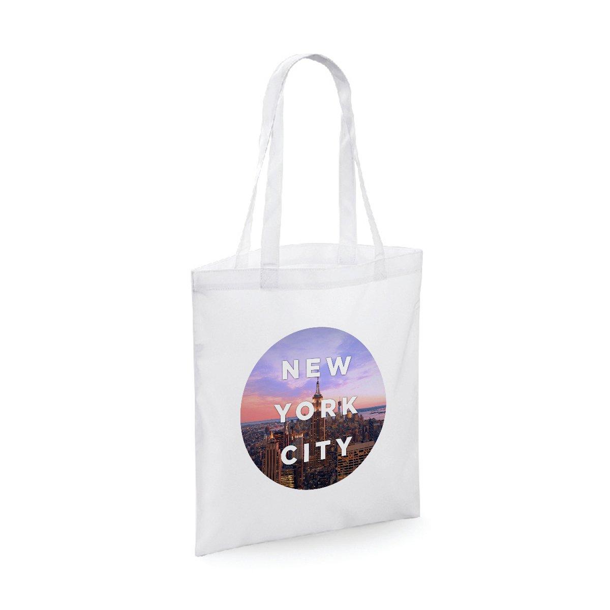 bubbleshirt Shopping Bag New york city - città - idea regalo - in cotone Lunghezza del manico: 40 cm.