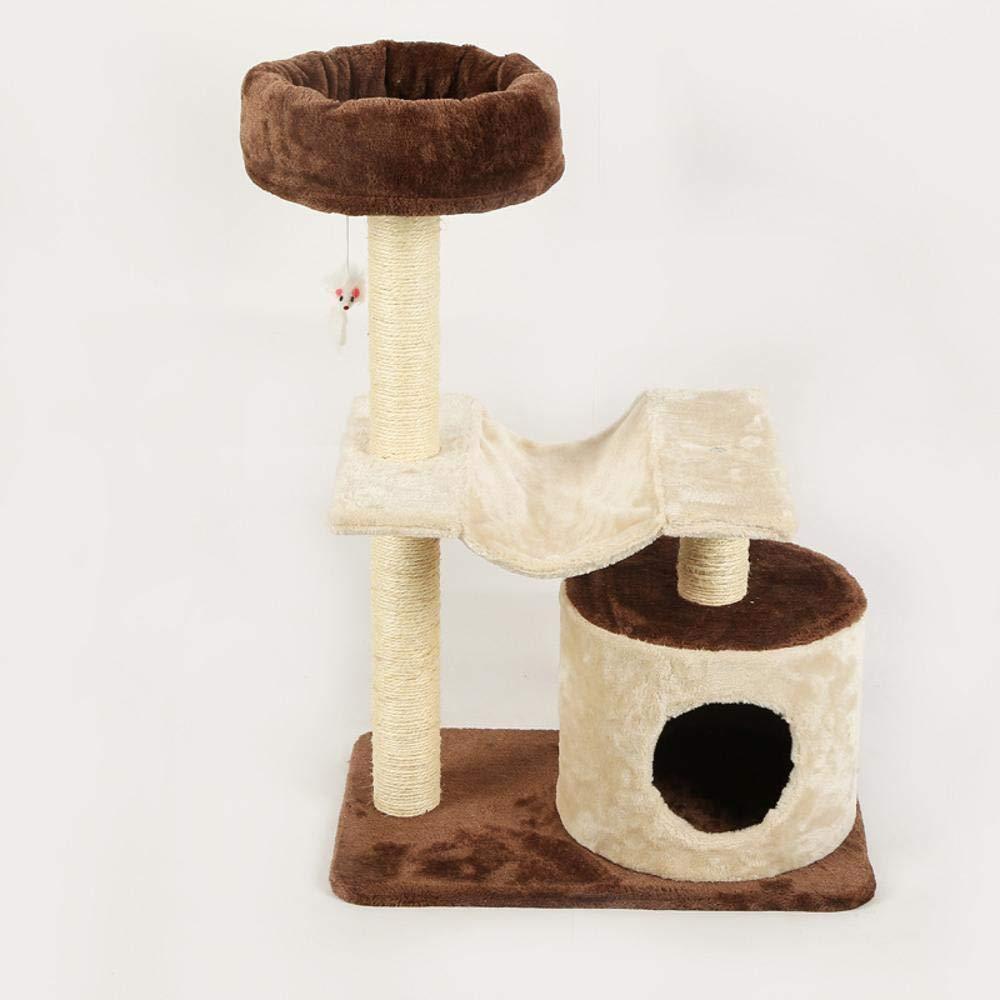 Ludage Cat's climbing frame In legno gatto giocattoli arrampicata forniture rettifica Paws proteggere i mobili 55  35  82cm