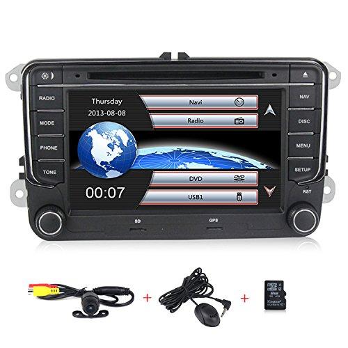 HD 7 inch Car Stereo GPS DVD Navi 2 Din for VW Jetta Passat Golf Beetle Caddy Tiguan Scirocco Octavia Altea Touran Amarok Car Radio in-Dash DVD