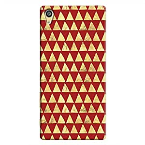 Cover It Up - Gold Triangle Tile Xperia Z5 Dual Hard Case