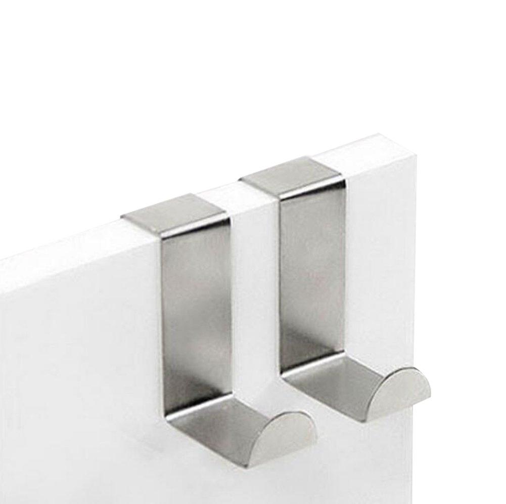 Jungen para encima de la puerta ganchos resistente de acero Stailess, Plateado, small