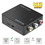 Easycel HDMI to AV Composite RCA Converter for Roku Streaming Media Player Amazon Media Player Apple TV PS3 PS4 Nintendo Switch Use with Older TVs that have Composite (yellow/red/white) Inputs