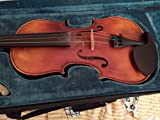 Full Size 4/4 Handmade Stradivari Copy German Style Violin Fiddle Case Bow Set