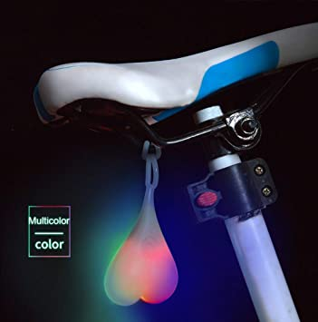 New 9 Super Bright LED Bicycle Bike Cycling Rear Tail Light Lamp Colorful