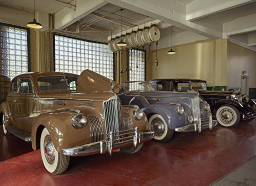 16 x 24 Art Canvas Wrapped Frame Giclee Print Display Classic Packard Automobiles at America's Packard Museum an Automotive Museum Located Former Citizens Motorcar Company auto- 2016 Highsmith 04a