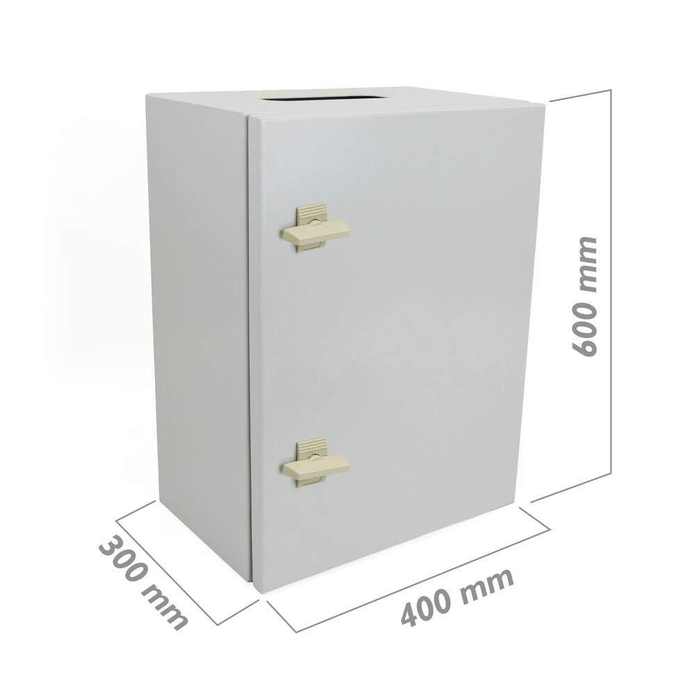 BeMatik - Caja de distribució n elé ctrica metá lica con protecció n IP65 para fijació n a Pared 600x400x300mm BeMatik.com