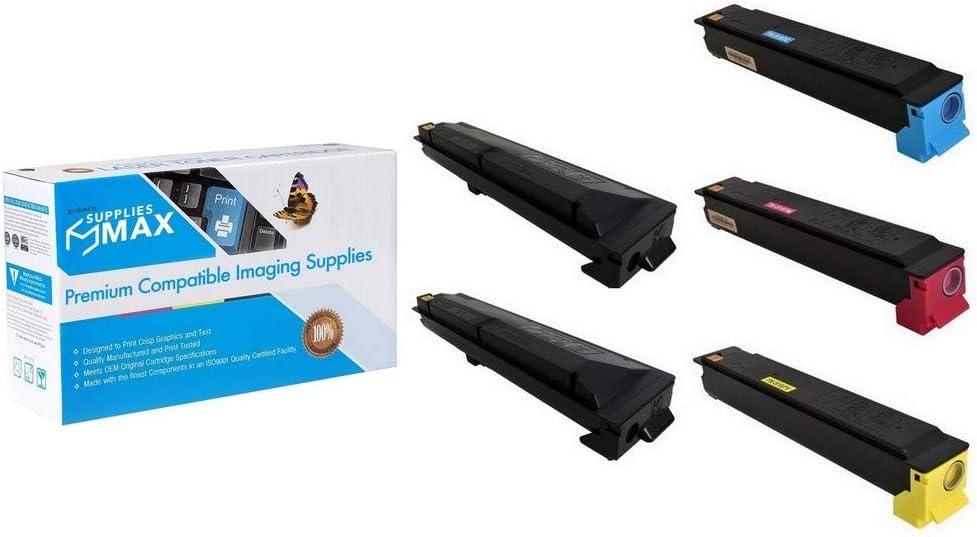 SuppliesMAX Compatible Replacement for Kyocera Mita TASKalfa 306ci//307ci Toner Cartridge Combo Pack TK-51982B1CMY 2-BK//1-C//M//Y