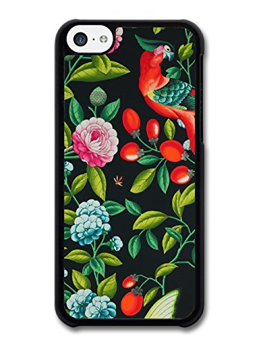 Tropical Hipster Grunge Print on Black Fashion Style coque pour iPhone 5C