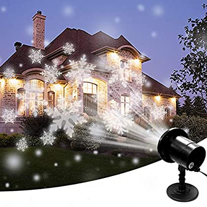SZWTC Snowfall LED Light Projector, Christmas Snow Light,Snow Falling Projector Lamp Dynamic Snow Effect Spotlight for…
