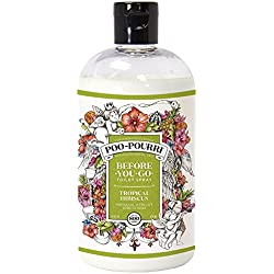 Poo-Pourri Before-You-Go Toilet Spray 16-Ounce Refill Bottle, Tropical Hibiscus + Free Uben Travel Size, 1-Ounce Refill Bottle,