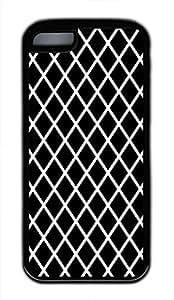Black And White Prism Cute Soft Case Cover for iPhone 5C TPU Black wangjiang maoyi