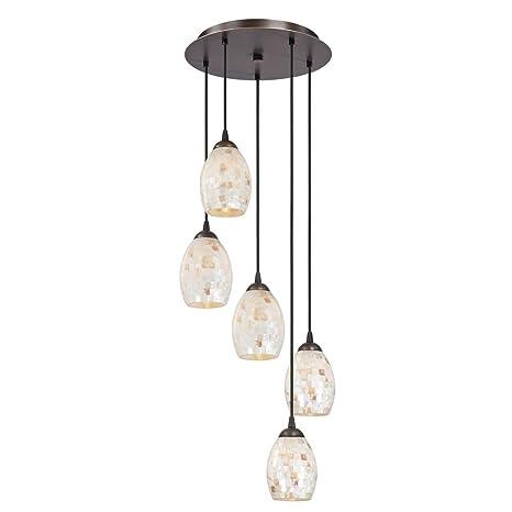 Mosaic glass multi light pendant with five lights ceiling pendant mosaic glass multi light pendant with five lights mozeypictures Choice Image