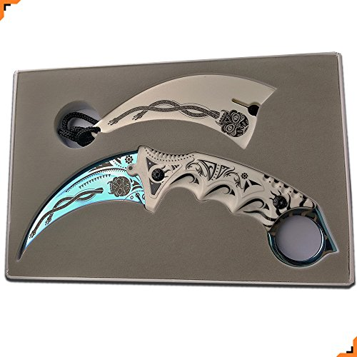 Knivesmatter Custom csgo Karambit Knife, 3rd Gen, Full Tang - Import